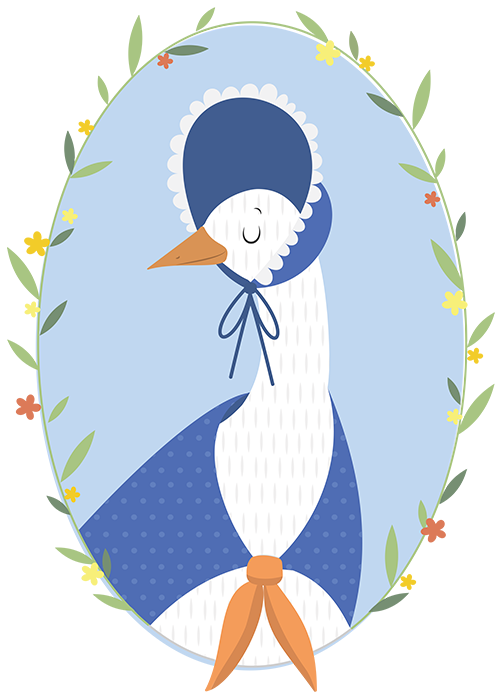 logo for Mother Goose - artwork by Jessica Bretherton